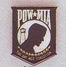 POW*MIA Car Grill Badge