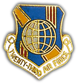 23rd Air Force Pin
