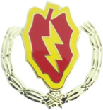 25th Infantry Wreath Pin