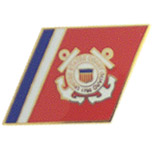 USCG Racing Stripes Pin