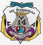USS Ticonderoga CVA-14 Patch