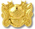 US Navy Diving Officer Gold Collar Device