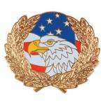 Eagle Flag Wreath Hat Pin