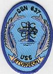 "USS Sturgeon SSN 637 3"" Patch"