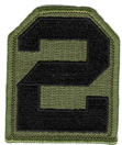 2nd Army Patch - Subdued