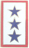Service Banner - Three Star Pin