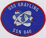 USS Grayling SSN 646 Patch