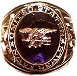 US Navy Seals Rhodium Ring
