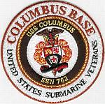 Columbus Base USSVI (USS Columbus SSN 762) Patch