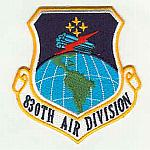 830th Air Division Patch