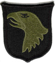 "101st Airborne Division Subdued 3"" Patch"