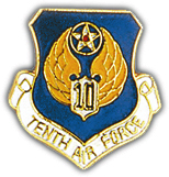 10th Air Force Pin