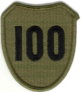 100th Infantry Division Patch - Subdued