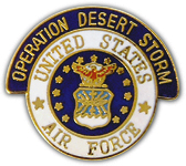 Operation Desert Storm US Air Force Pin