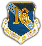 16th Air Force Pin