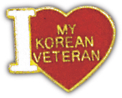 I Love My Korean Vet Pin