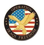 Operation Iraqi Freedom W/ Eagle Lapel Pin