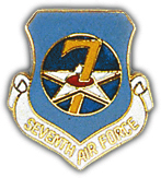 7th Air Force Pin