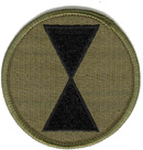 "7th Infantry Division Subdued 2 1/2"" Patch"