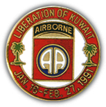 82nd Airborne Liberation of Kuwait Pin