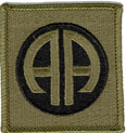 "82nd Airborne Division Subdued 3"" Patch"