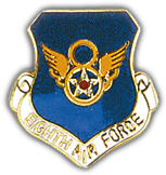 "8th Air Force 1"" Pin"
