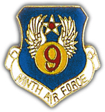 9th Air Force Pin