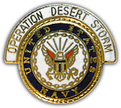 Operation Desert Storm US Navy Pin