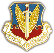 "Tactical Air Command 1 1/8"" Pin"