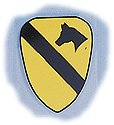 "U.S. Army 1st Cavalry Shield 5"" Decal"