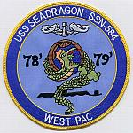 USS Sea Dragon SSN 584 - Westpac 78-79 Patch