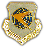 22nd Air Force Pin