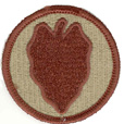 24th Infantry Division Patch - Desert
