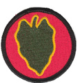 "24th Infantry Division 2 1/4"" Patch"