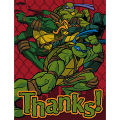 Teenage Mutant Ninja Turtles Thank You Notes