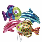 "14"" Seaside Friends Air-Filled Shape Balloons"