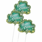 "14"" St. Patrick's Day Air-Filled Shape Balloons"