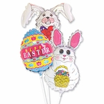 "14"" Easter Air-Filled Shape Balloons"