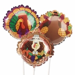"14"" Turkey Air-Filled Shape Balloons"