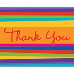 Birthday Stripes Thank You Cards