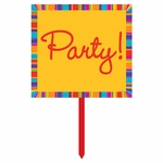 Birthday Stripes Yard Sign