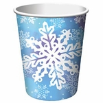 Glitter Snowflake 9oz Hot/Cold Cup