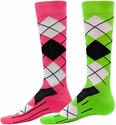 Neon Argyle Sport Compression Socks � in 2 Colors