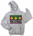 Neon Volleyball Hooded Sweatshirt - in 18 Colors