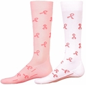 Pink Ribbon Sport Compression Socks - in 2 Colors