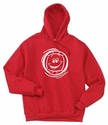 Smiley Face Volleyball Hooded Sweatshirt - in 19 Colors