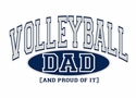 Volleyball Dad / Grandpa, Proud Of It Hoodie - in 20 Colors