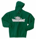 Volleyball Swirl Hooded Sweatshirt - in 20 Colors