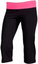 Hot Pink Waist Yoga Capris - Choice of 22 Sport Imprints on Rear or Leg