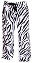 Zebra Stripe Flannel Pajama Pants - Choice of 22 Sport Imprints on Rear